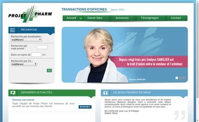 Site internet de Projet Pharm