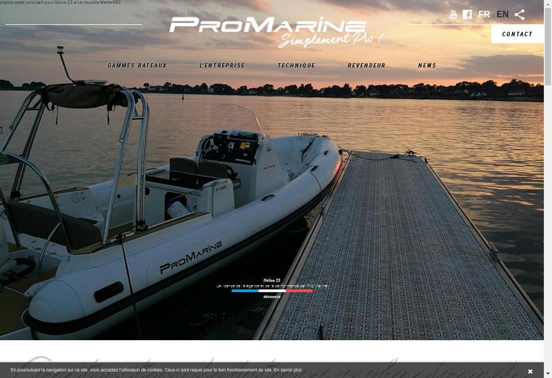 Capture d'écran du site de Pro Marine