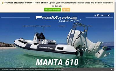Site internet de Pro Marine