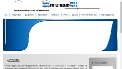 Site internet de Protect Facades