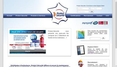 Site internet de Protect Securite