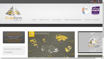 Site internet de Protoform Bourgogne
