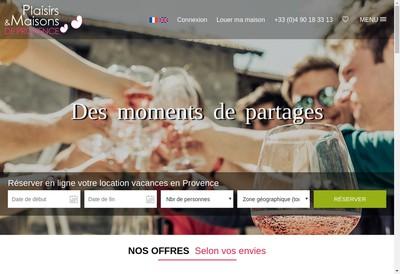 Site internet de Plaisirs et Maisons de Provence