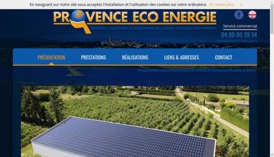 Site internet de Provence Eco Energie