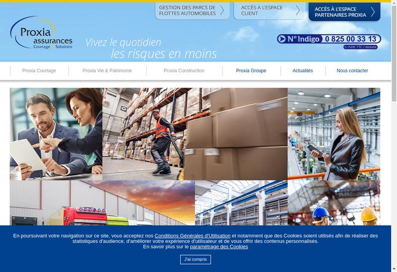Capture d'écran du site de Proxia