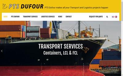 Site internet de Pole Transport Services