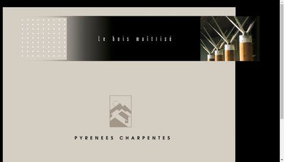 Site internet de Pyrenees Charpentes