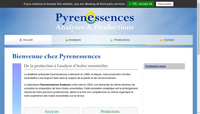 Site internet de Pyressences Analyses