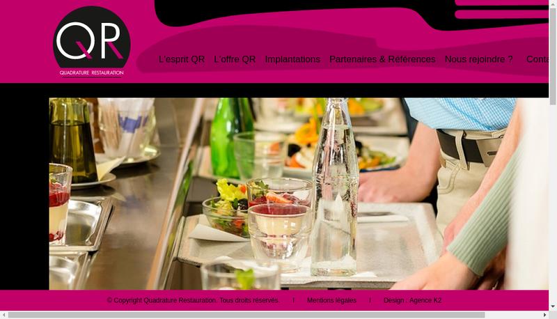 Capture d'écran du site de Quadrature Restauration