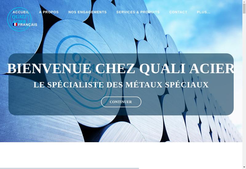 Capture d'écran du site de SARL Quali Acier