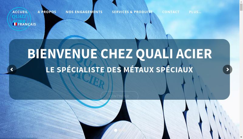 Capture d'écran du site de SARL Quali-Acier