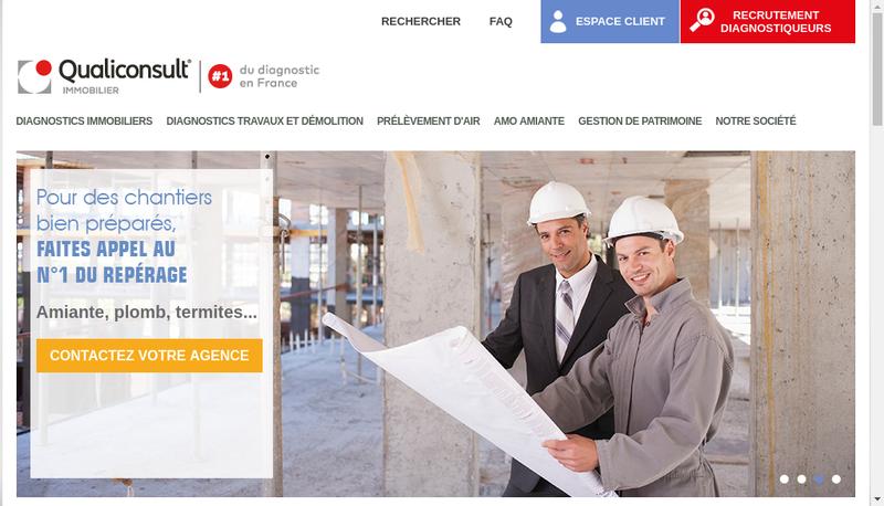 Capture d'écran du site de Qualiconsult Immobilier