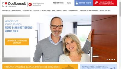 Site internet de Qualiconsult Immobilier