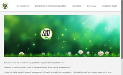 Site internet de Quart de Lait
