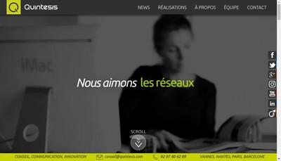 Site internet de Quintesis