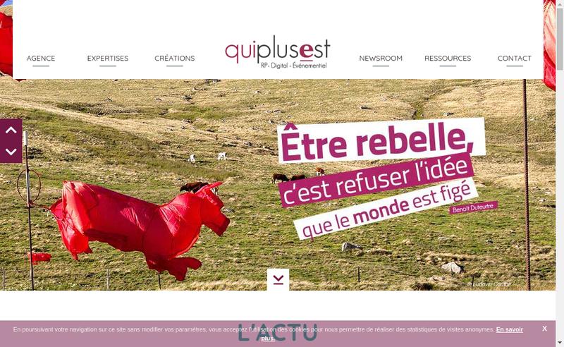 Capture d'écran du site de Qui Plus Est
