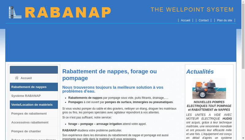Capture d'écran du site de Finaqua France Rabattement Hudig France Rabanap