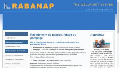 Site internet de Finaqua France Rabattement Hudig France Rabanap