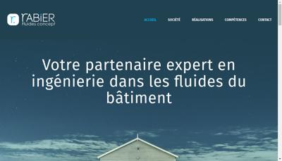 Capture d'écran du site de Rabier Fluides Concept