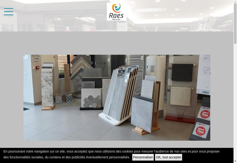 Capture d'écran du site de Etablissements Raes Pere et Fils
