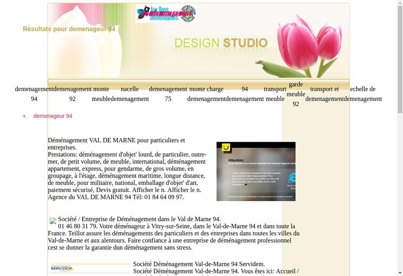 Capture d'écran du site de Ram Demenagements