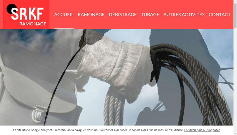 Capture d'écran du site de Service de Ramonage Kolher Felix