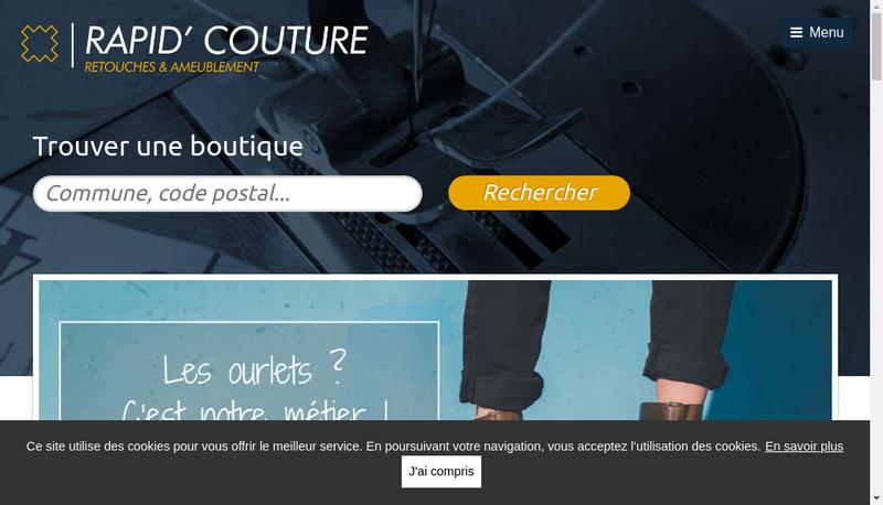 Capture d'écran du site de Rapid'Couture