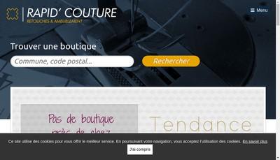 Site internet de Rapid Couture
