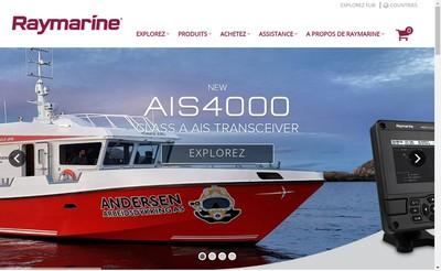 Site internet de Raymarine France