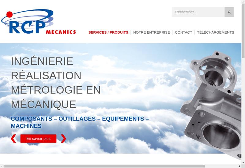 Capture d'écran du site de RCP