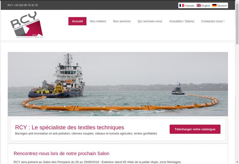 Capture d'écran du site de Reynaud Cauvin Yvose