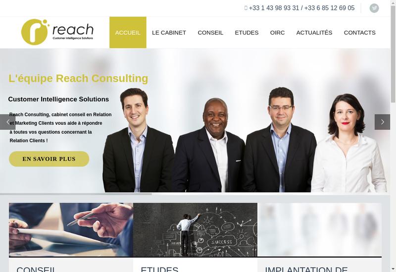 Capture d'écran du site de Reach Consulting