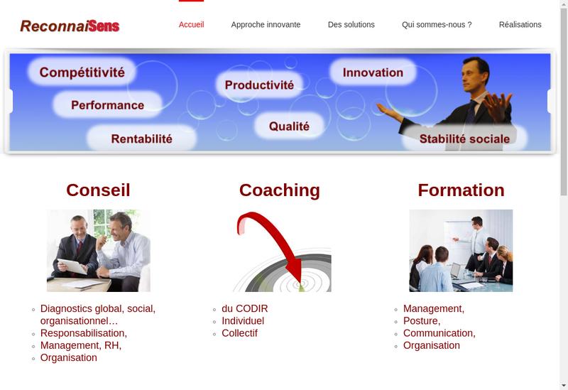 Capture d'écran du site de Reconnaisens