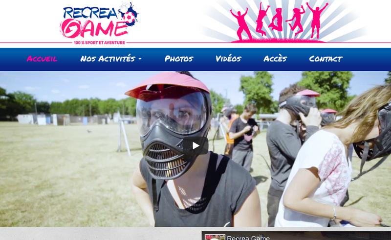 Capture d'écran du site de Recrea Game