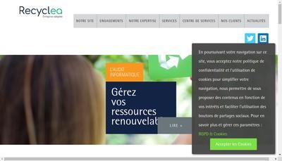 Site internet de Recyclea