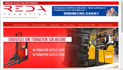 Capture d'écran du site de Reda Formation