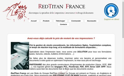 Site internet de Redtitan France