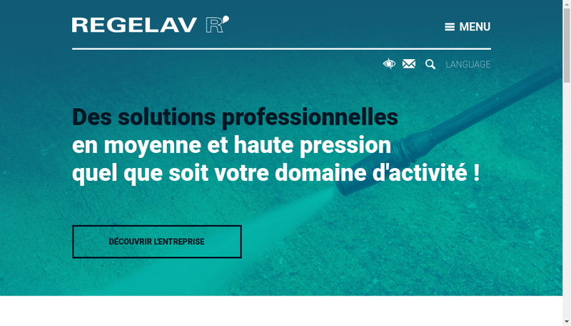 Capture d'écran du site de Regelav