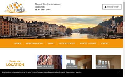 Site internet de La Regionale Immobiliere