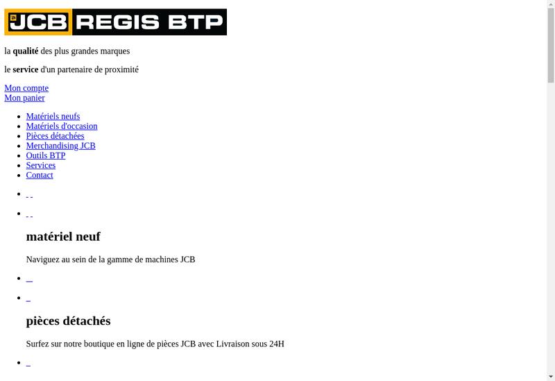 Capture d'écran du site de Regis Btp