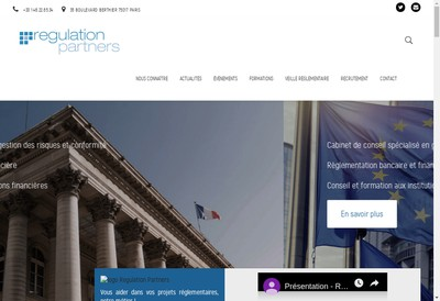 Site internet de Regulation Partners