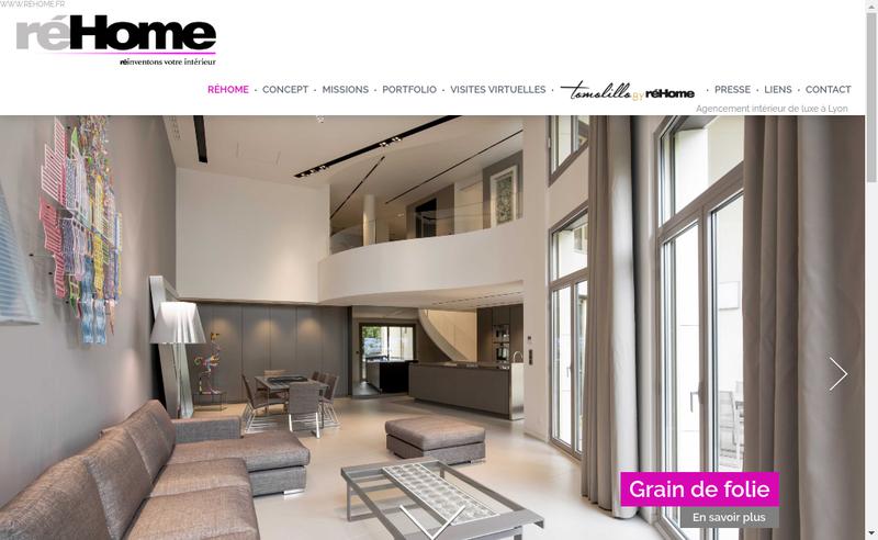 Capture d'écran du site de Rehome