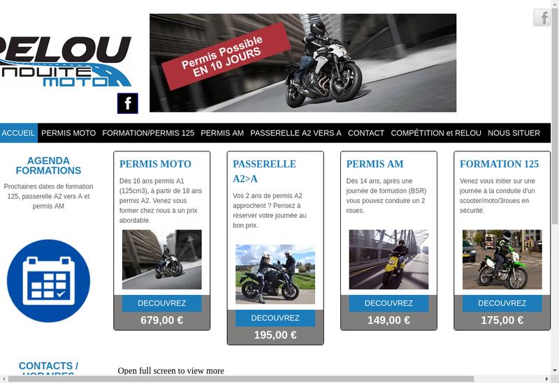 Capture d'écran du site de Relou 2 Roues