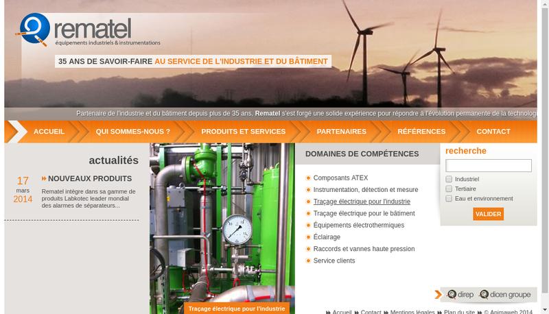 Capture d'écran du site de Rematel