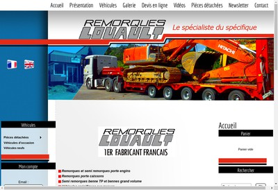 Site internet de Remorques Louault SARL