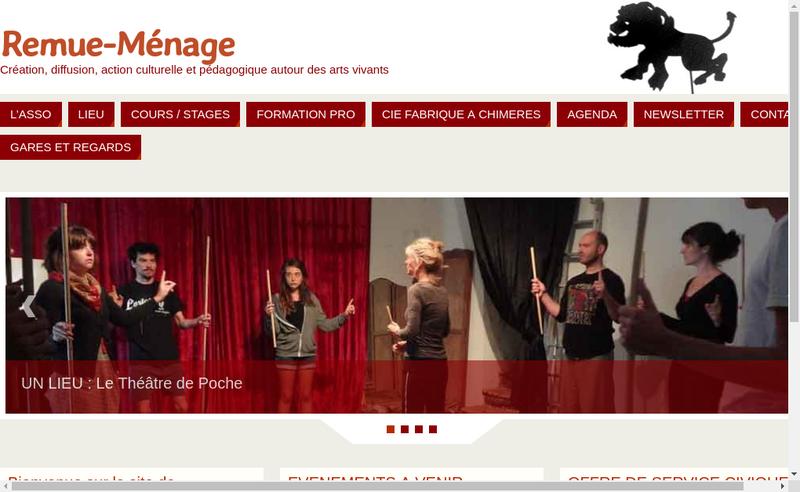 Capture d'écran du site de Remue Menage Danse Theatre