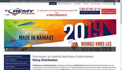 Site internet de Remy Distribution
