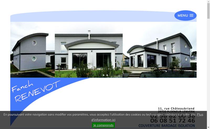 Capture d'écran du site de Entreprise Renevot