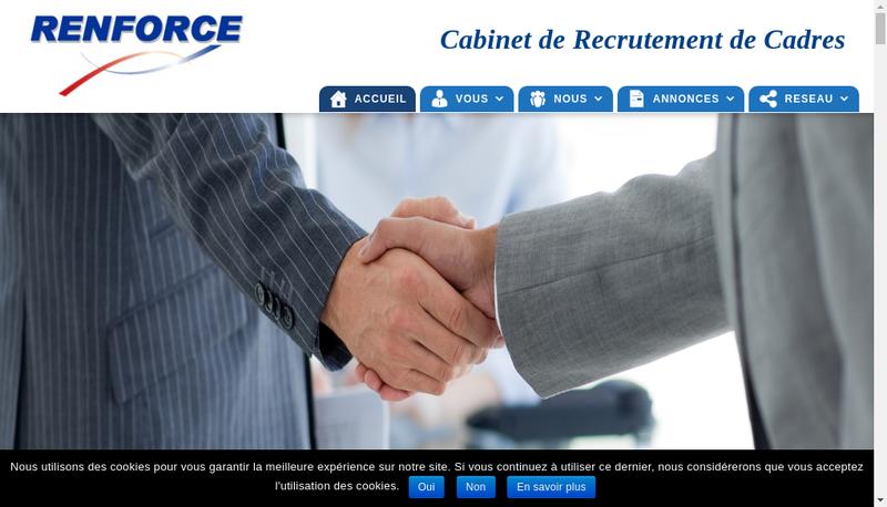 Capture d'écran du site de Renforce