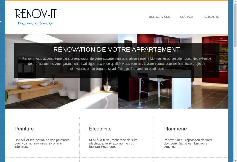 Capture d'écran du site de Renov It